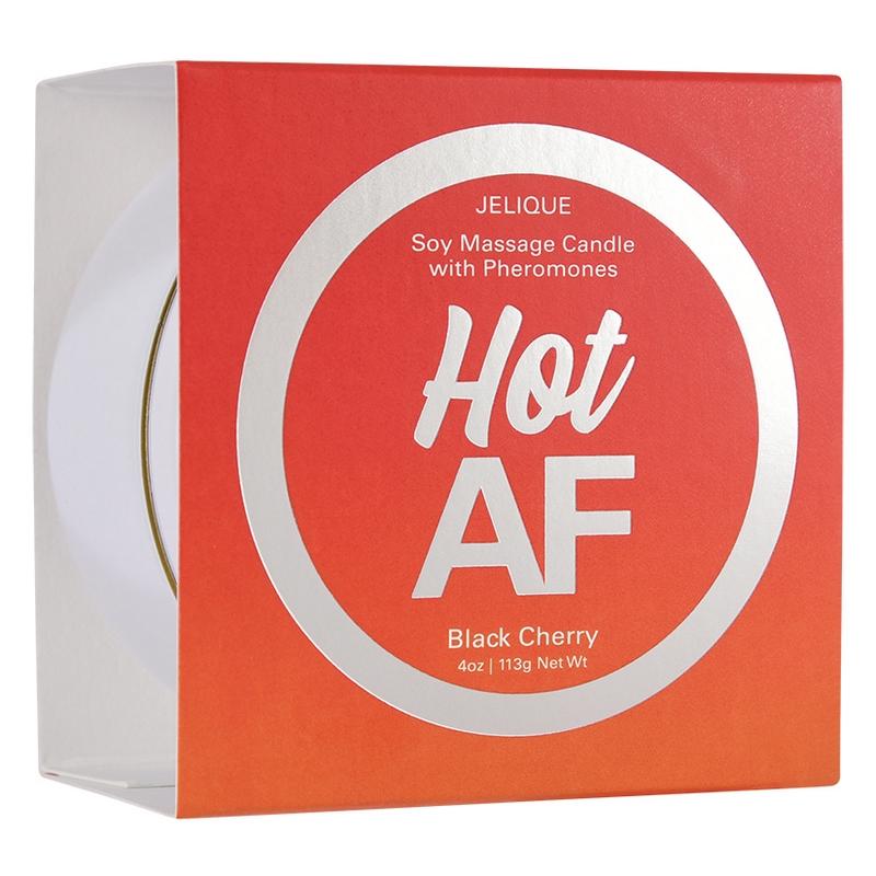 NEW JEL4503-04 Jelique Products 4 oz  Massage Candle Hot AF Black Cherry