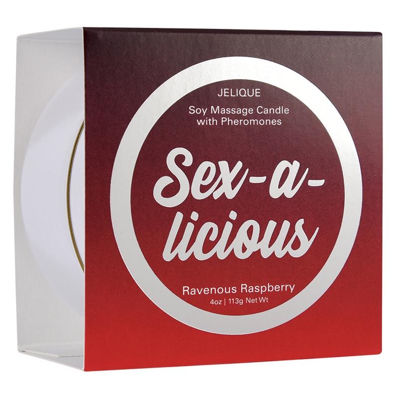 NEW JEL4504-04 Jelique Products 4 oz  Massage Candle Sex-A-Licious Ravenous Raspberry