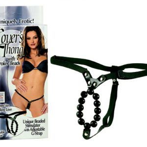 SE0060-03-3 California Exotics Lover's Thong with Stroker Beads