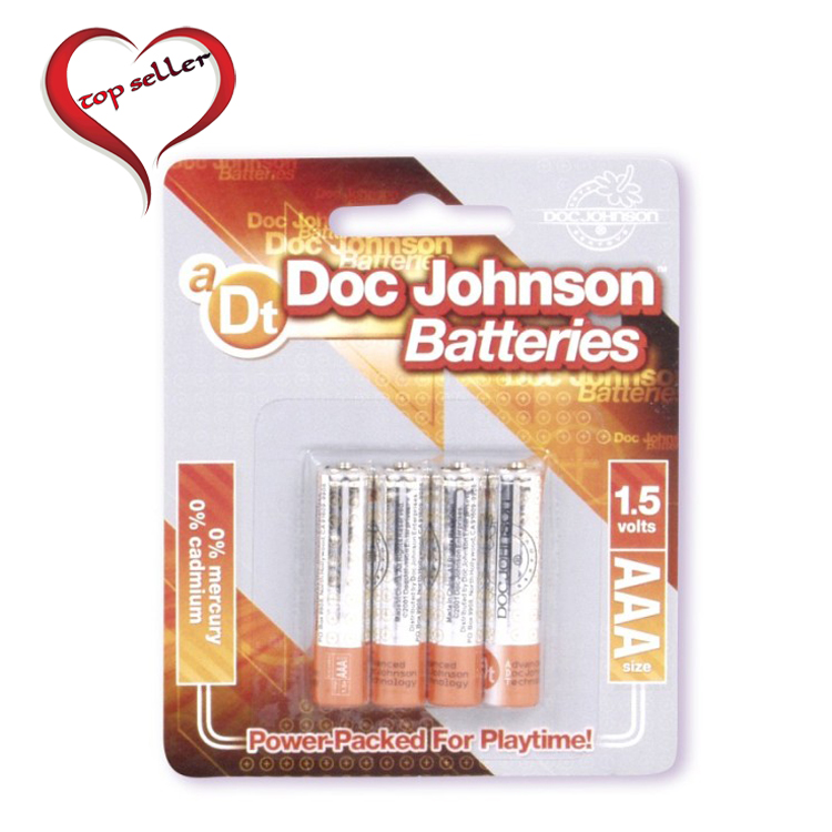 D0399-07 CD Doc Johnson AAA Size Batteries4 Pack