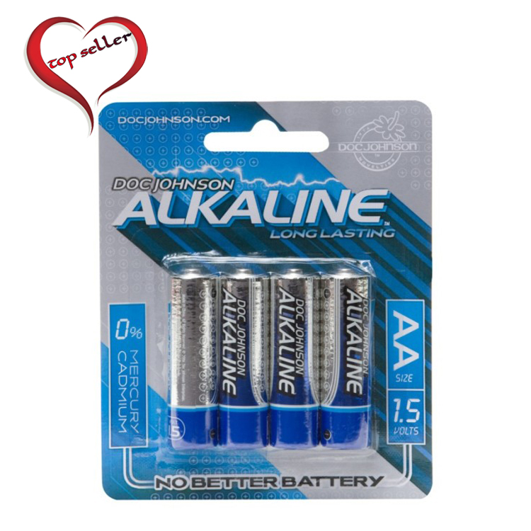D0399-08 CD Doc Johnson Alkaline Batteries4 Pack AA Size