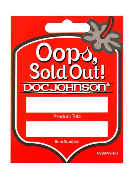 D0999-99 BU Doc Johnson Re-Order Tags