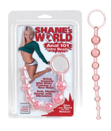 SE1314-04-2 California Exotics Shane's World Anal 101 Intro Beads Pink