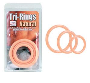 SE1421-01-2 California Exotics Tri-Rings Natural