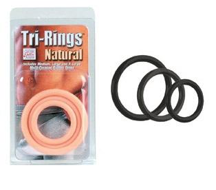 SE1421-03-2 California Exotics Tri-Rings Black