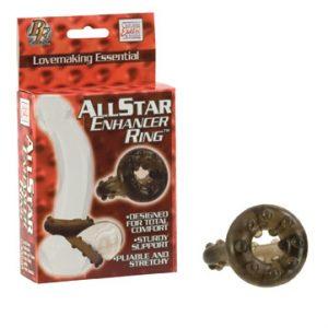 SE1459-03-3 California Exotics All Star Enhancer Ring Smoke
