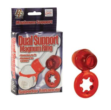 SE1460-11-3 California Exotics Dual Support Magnum Ring Red