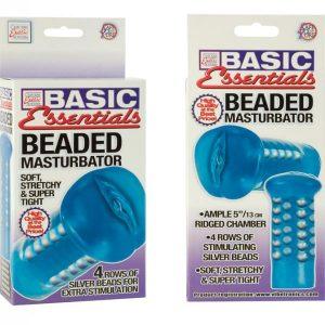 SE1786-12-3 California Exotics Basic Essentials Beaded Masturbator