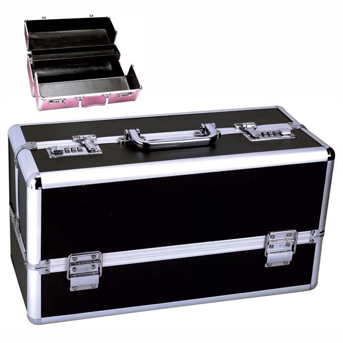 B1000 Large Lockable Vibrator Case Black