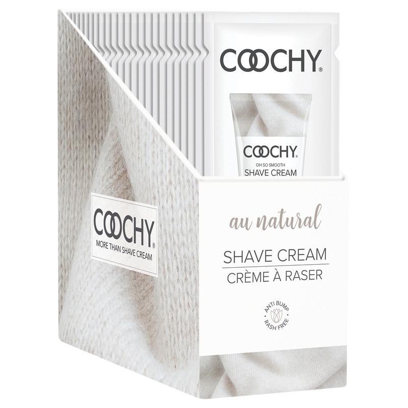 C1001-99 Classic Erotica  15 ml Coochy Shave Cream Au Natural Display of 24 Foils