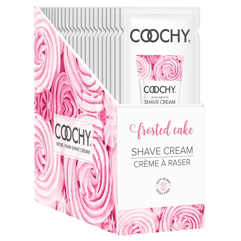 C1003-99 Classic Erotica 15 ml Coochy Shave Cream Frosted Cake Display of 24 Foils
