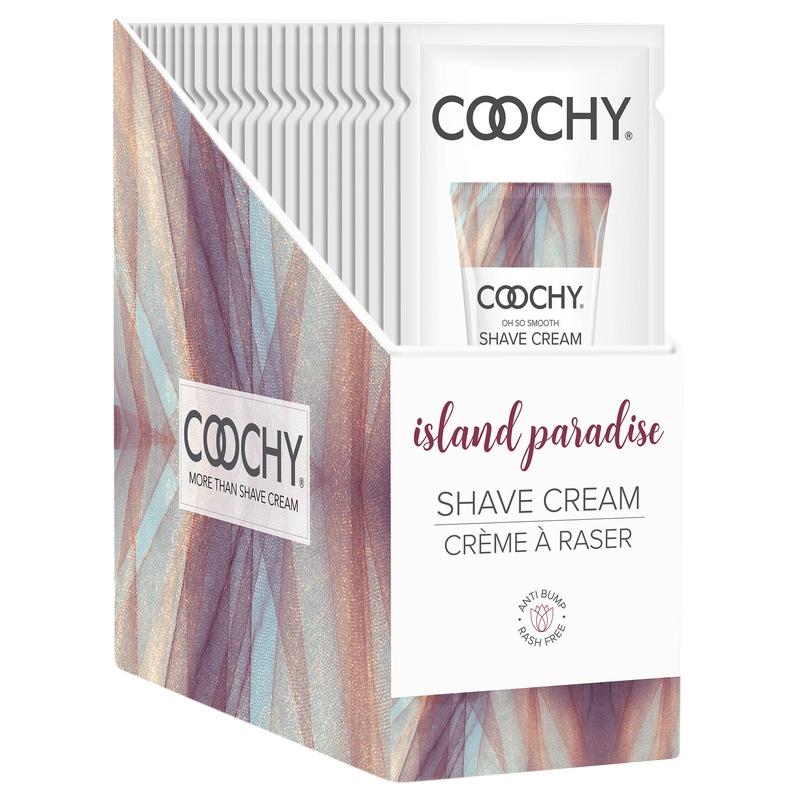C1005-99 Classic Erotica 15 ml Coochy Shave Cream Island Paradise Display of 24 Foils