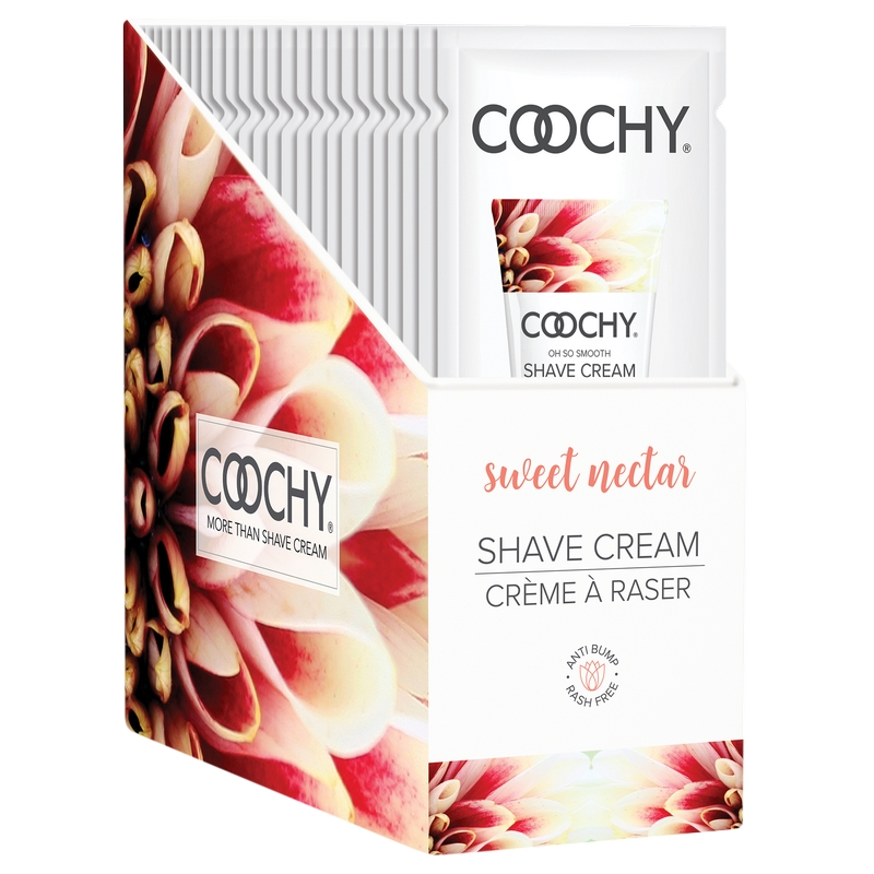 C1006-99 Classic Erotica 15 ml Coochy Shave Cream Sweet Nectar Display of 24 Foils