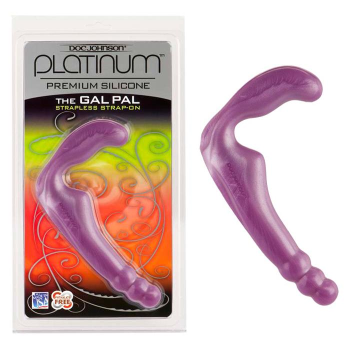D0106-02 CD Doc Johnson  Platinum Silicone The Gal Pal Purple