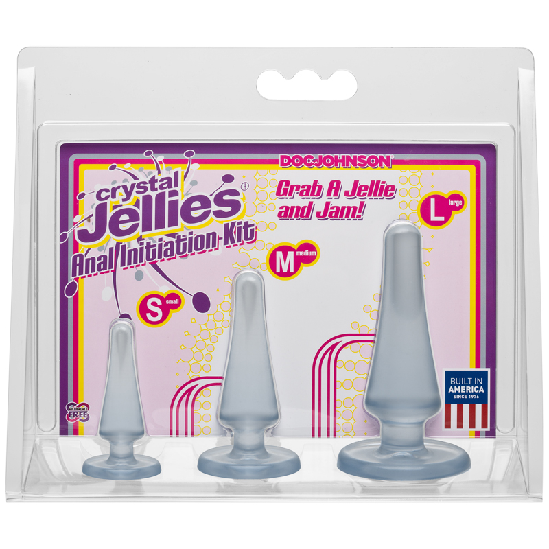 D0283-26 CD Doc Johnson Crystal Jellies Anal Initiation Kit Clear