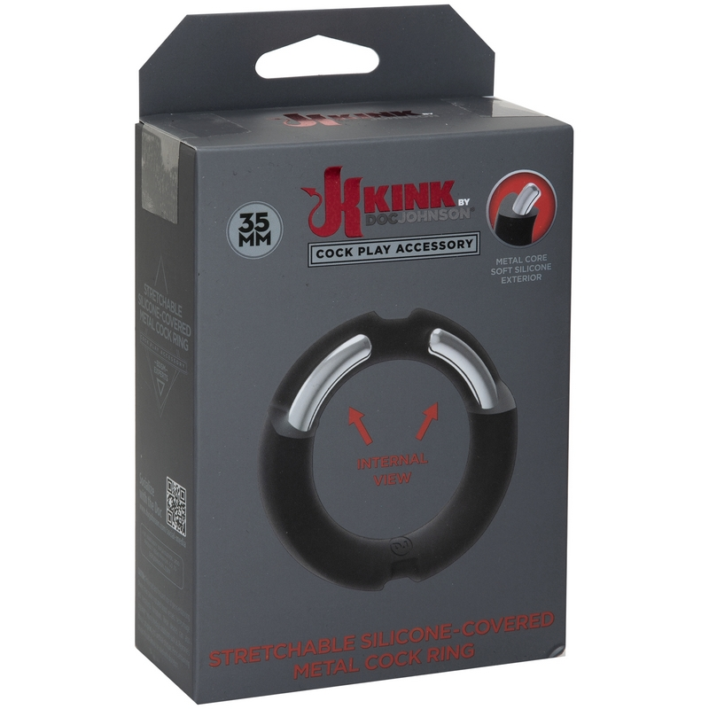 D2402-18 BX Doc Johnson Kink Silicone Covered Metal C-Rimg 35 mm