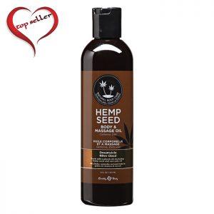 EB4001  Earthly Body 8 oz. Hemp Seed Massage Oil Dreamsicle