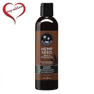 EB4003  Earthly Body 8 oz. Hemp Seed Massage Oil Unscented