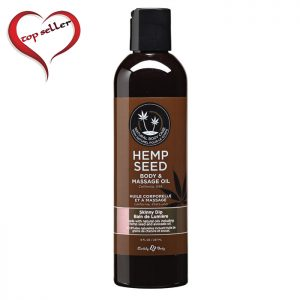 EB4004 Earthly Body 8 oz. Hemp Seed Massage Oil Skinny Dip