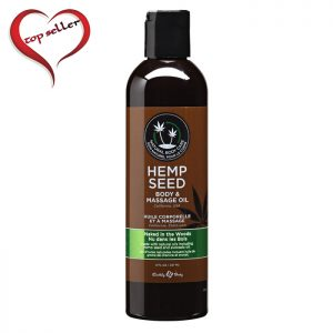 EB4005  Earthly Body 8 oz. Hemp Seed Massage Oil Naked in the Woods