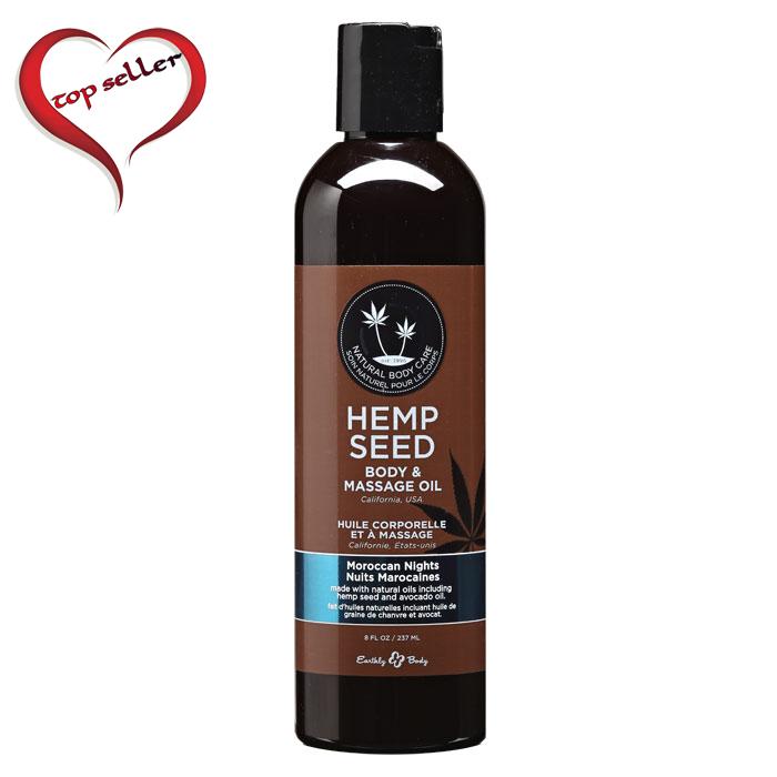 EB4006  Earthly Body 8 oz. Hemp Seed Massage Oil Moroccan Nights