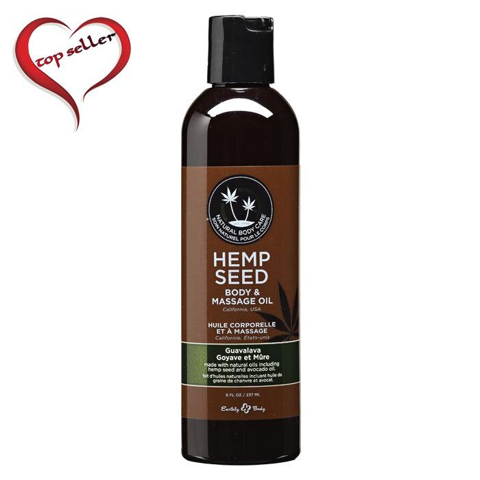 EB4008  Earthly Body 8 oz. Hemp Seed Massage OilGuavalava