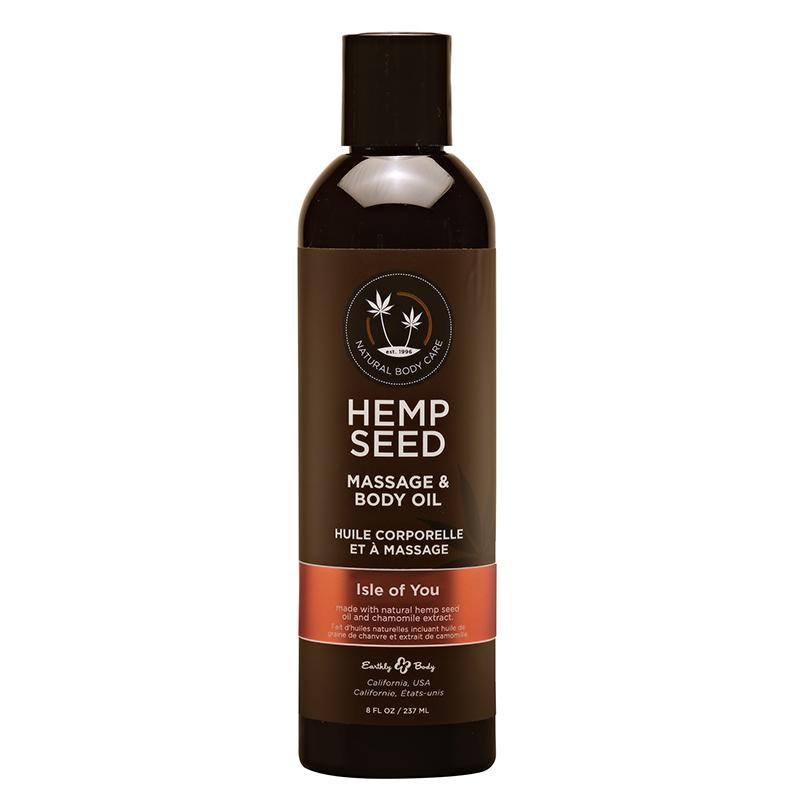 EB4009 Earthy Body 8 oz. Hemp Seed Massage Oil Isle of You