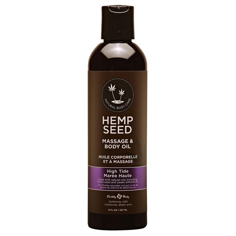 EB4025 Earthly Body  8 oz. Hemp Seed Massage Oil High Tide