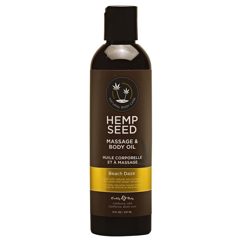 EB4026 Earthly Body  8 oz. Hemp Seed Massage Oil Beach Daze