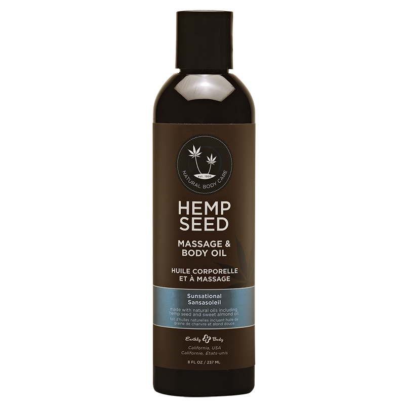 EB4027 Earthly Body  8 oz. Hemp Seed Massage Oil Sunsational