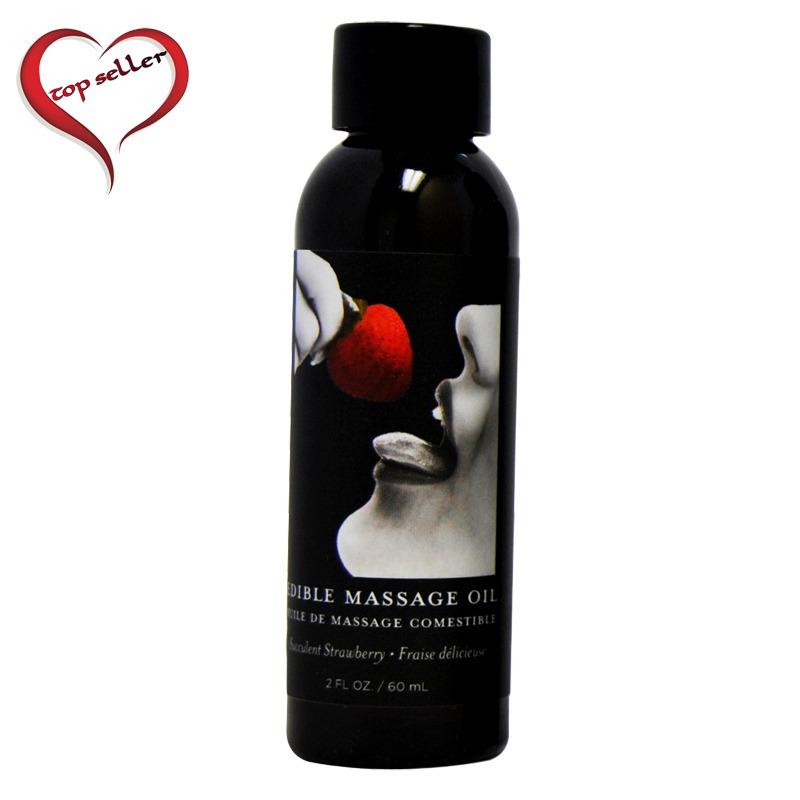 EB4602 Earthly Body 2 oz. Edible Massage Oil Strawberry