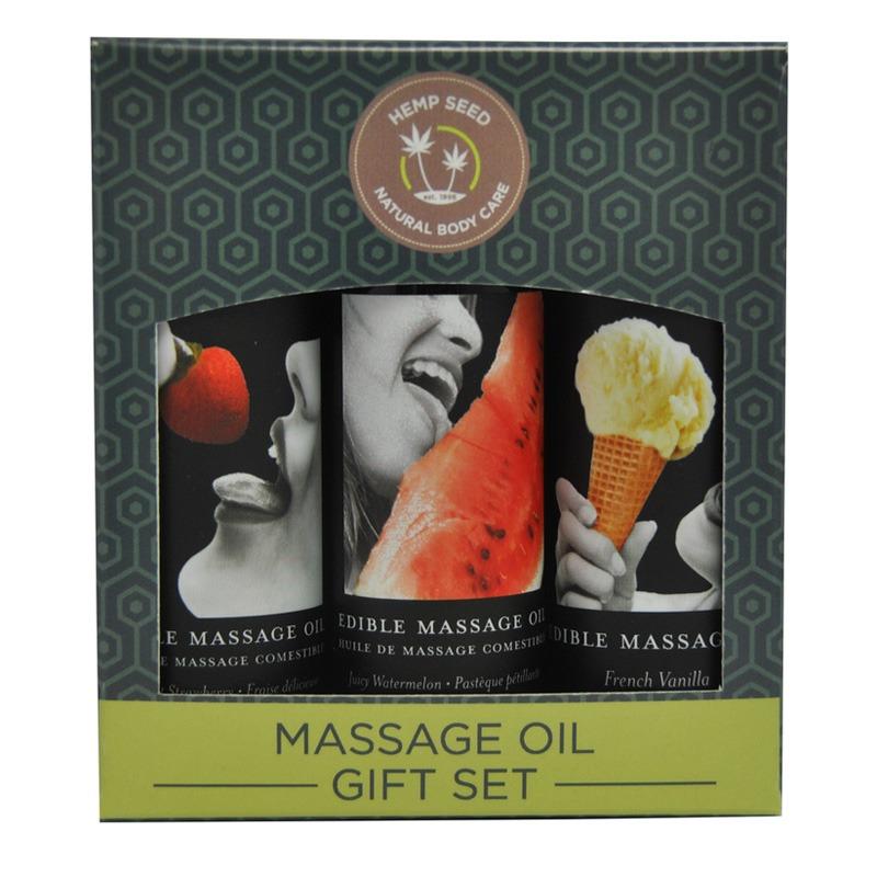 EB4609 Earthly Body  2 oz Edible Massage Oil Gift Set