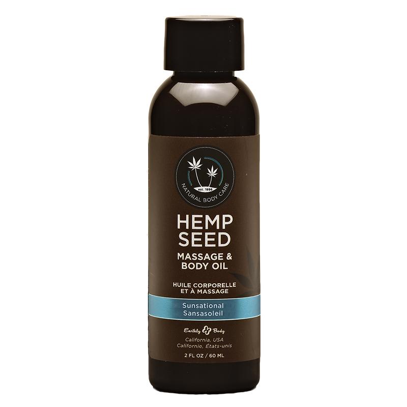 EB5210 Earthly Body  2 oz. Hemp Seed Massage Oil Sunsational