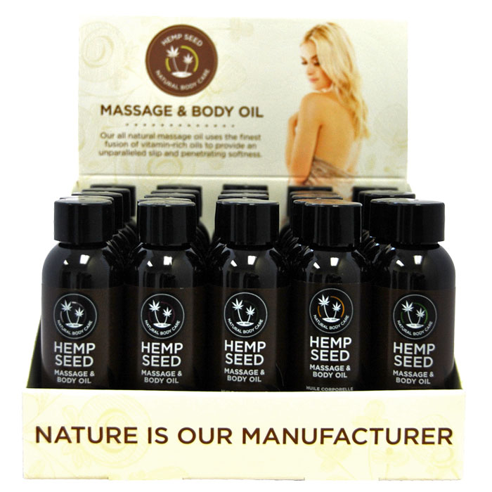 EB5215 Earthly Body 2 oz Massage Oil Display of 25