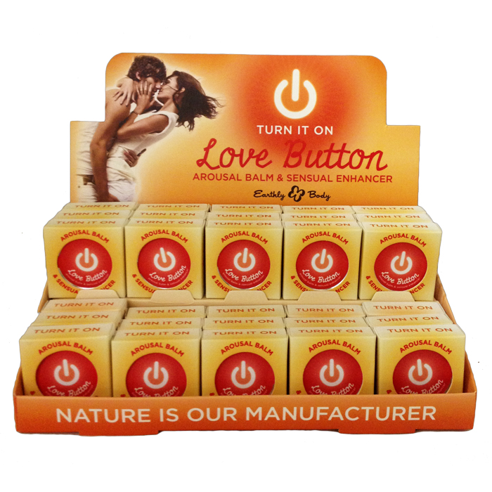 EB8201  Earthly Body Love Button Arousal Balm For Him & Her Basket of 30