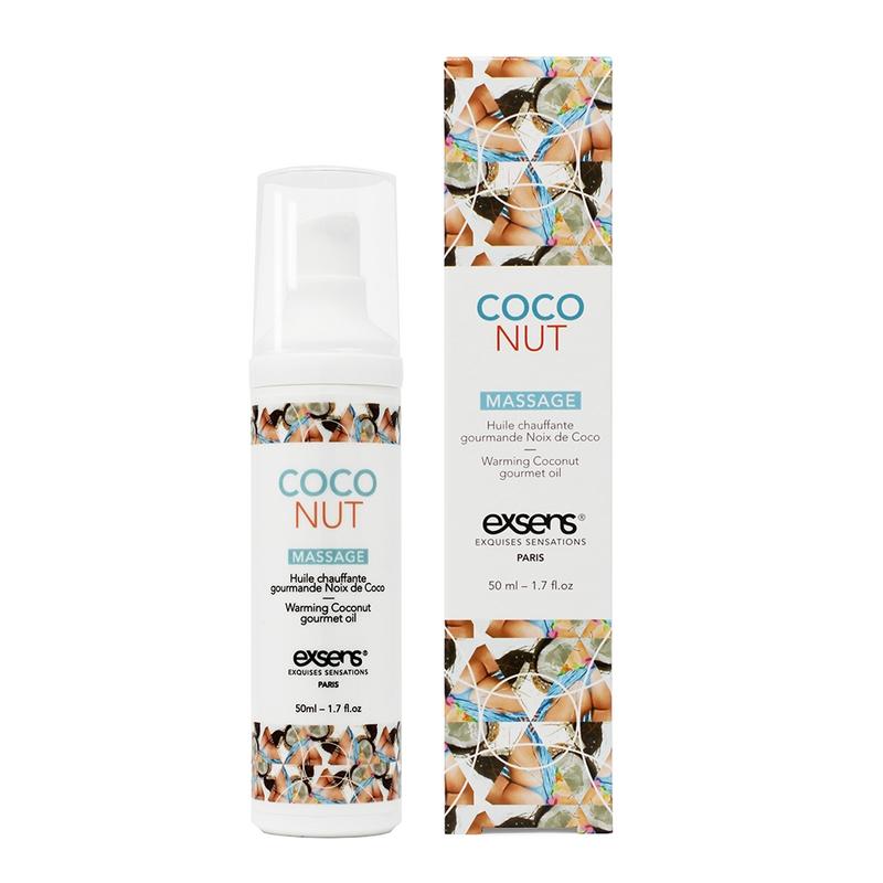EX1001 Exsens 50 ml Warming Gourmet Massage Oil Coconut