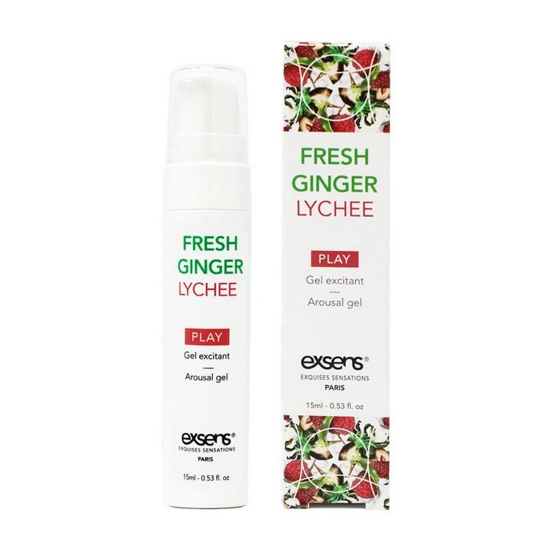 EX1301 Exsens 15 ml Cooling Stimulation Gel Fresh Ginger Lychee