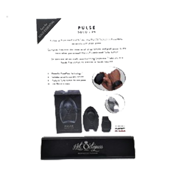 H2001 Hot Octopus Pulse Solo Essential & Lux Product Info Card ONE PER STORE ONLY FREE WITH TESTER & 3 UNITS BOUGHT