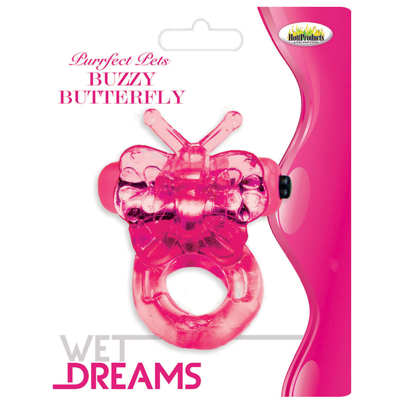 HP2136 Hott Products Buzzy Butterfly Pink
