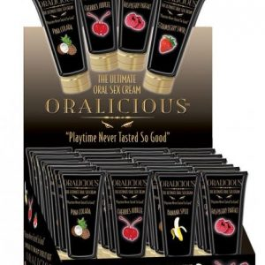 HP2160D Hott Products 2 oz. Oralicious Sex Cream Display of 24