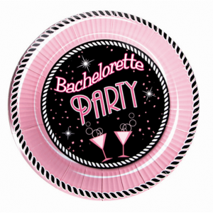 """HP2212 Hott Products 10"""" Bachelorette Party Plate Large Size - Pack of 10 SALE PRICEDWHILE STOCK LASTS"""