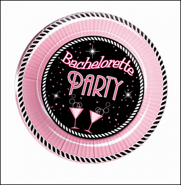 """HP2213 Hott Products 7"""" Bachelorette Party Plate Medium Size - Pack of 10 SALE PRICEDWHILE STOCK LASTS"""