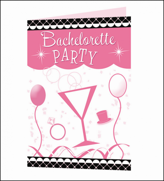 HP2238 Hott Products Bachelorette Party Invitation Cards10 Pack SALE PRICEDWHILE STOCK LASTS