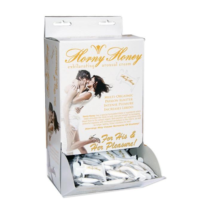 HP2672 Hott Products Horny Honey Arousal Cream Pillow Pack Box of 144