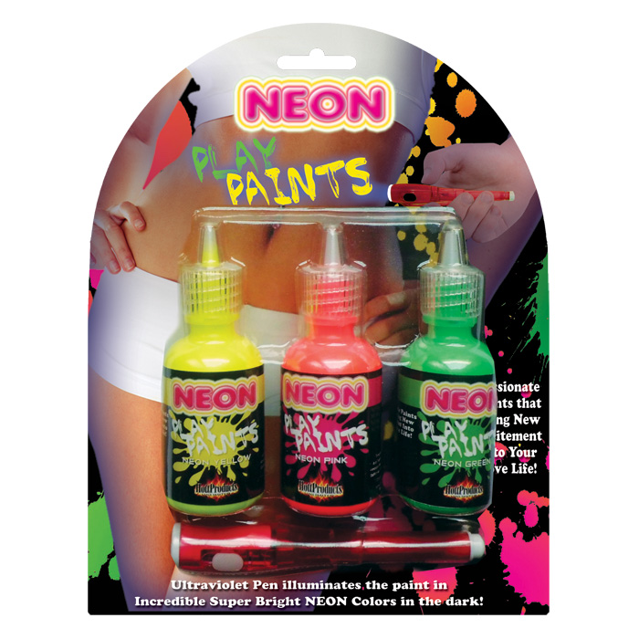 HP2808 Hott Products Neon Body Play Paints 3 Pack