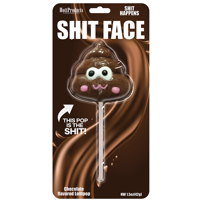 HP3304 Hott Products Shit Face Chocolate Poop Pop