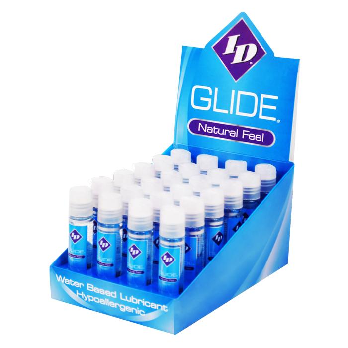 ID2029 ID Lubricants 1 oz Glide Pocket Bottle  Display of 24