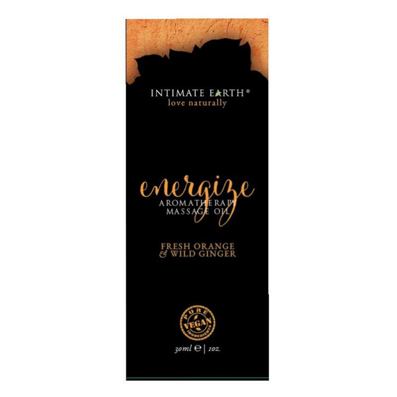 INT010F Intimate EarthEnergize Massage Oil 30 ml Foil Sample