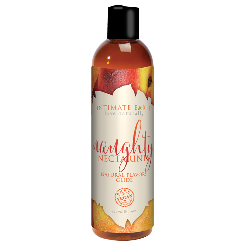INT039-120IE Intimate Earth 120 ml Flavored Lubricant Naughty Nectarines