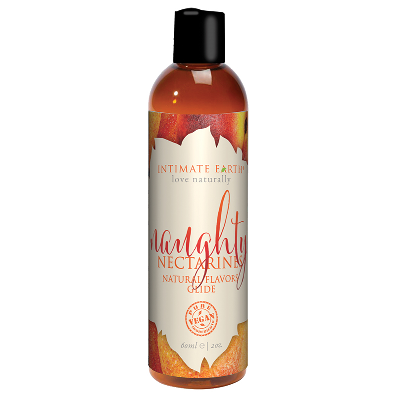 INT039-60IE Intimate Earth 60 ml Flavored Lubricant Naughty Nectarines
